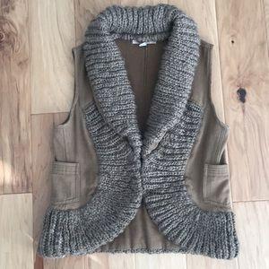 Free People wool canvas boho vest